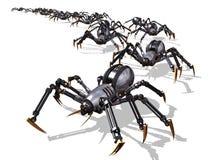 Invasie van RoboSpiders royalty-vrije illustratie