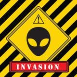 Invasie van vreemdelingen royalty-vrije illustratie