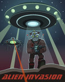Invasion of alien creatures Royalty Free Stock Photos
