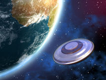 Invasion d'UFO Photographie stock libre de droits
