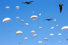 Invasion de parachutiste Photo libre de droits