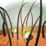 Invasion de poux à l'intérieur de paysage velu illustration libre de droits