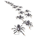 Invasion des RoboSpiders - 2 Stockfoto