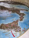 Invasion of Italy - Battle Map at the American Military Cemetery, Nettuno, Italy stock photography