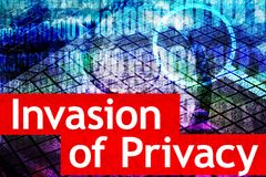 Invasion of Privacy. Is a hot online media topic Royalty Free Stock Images