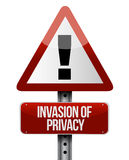 Invasion of privacy road sign illustration design. Over a white background Royalty Free Stock Image