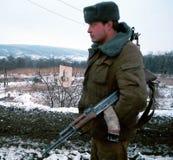 INVASION RUSSE DU CHECHENIE Photo stock