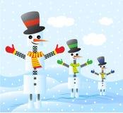 Invasion von snowbots Stockbild