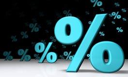 invasione Cielo-blu delle percentuali Fotografia Stock