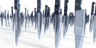 Invasione del coltello Immagine Stock