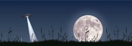 Invasione della luna piena Fotografia Stock