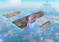 Invasione di un pianeta a distanza Fotografia Stock