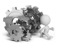 Invasione ruote di ingranaggio illustrazione di stock