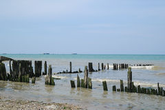 Invasionstagstrände von Normandie, Frankreich Stockfotos