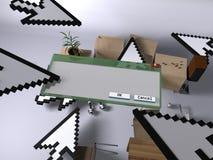 Invasão da tecnologia na HOME (com um indicador) Foto de Stock Royalty Free