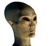 Invasor estrangeiro 3 com máscara do grampeamento ilustração do vetor