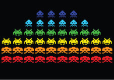 Invasori di spazio Immagine Stock