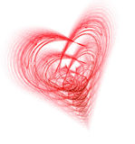 invecklad hjärta Arkivbilder