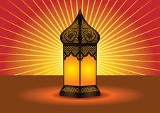 invecklad islamisk lampa för färgrikt golv royaltyfri illustrationer