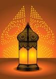 invecklad lampa för arabiskt golv royaltyfri illustrationer