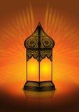 invecklad lampa för arabiskt golv vektor illustrationer