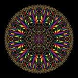 Invecklad Mandala för cannabismarijuana royaltyfri foto