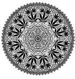 Invecklad Mandala för cannabismarijuana arkivbild