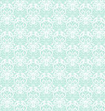 Invecklad vit lyxig sömlös modell på blå bakgrund Royaltyfri Bild