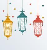 Invecklade arabiska lampor för Ramadan Kareem stock illustrationer