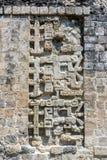 Invecklade detaljer av Mayan fördärvar arkivbilder