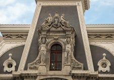 Invecklade och detaljerade utsmyckade skulpturer på stadshuset, Philadelphia Arkivfoto