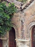 Invecklat murverk, bysantinsk kyrka arkivbilder