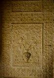 Invecklat snida på en vägg Royaltyfri Foto