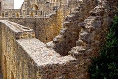 Invecklat utrymme i slott royaltyfri bild