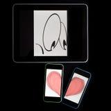 Inveja de Smartphone Foto de Stock Royalty Free