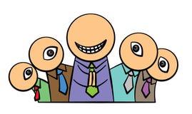 Inveja pelo sucesso ilustração royalty free