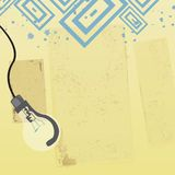 Invent. Illustration of grunge design background Royalty Free Stock Photography