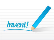 Invent message sign illustration design Royalty Free Stock Image