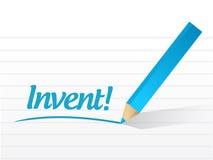 Invent message sign illustration design Royalty Free Stock Image