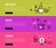 Invent New Ideas. Web banners  set Royalty Free Stock Images