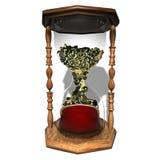 Inventa a ampulheta Tempo é dinheiro Foto de Stock