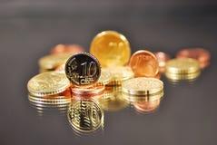 Inventa o euro Imagens de Stock