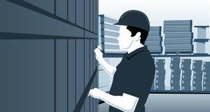Inventaire d'entrepôt illustration libre de droits