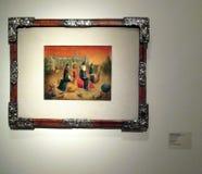 Inventaire du ` s de Leonora Carrington de peinture magnifique exhibé le Malba - à Buenos Aires Argentine illustration stock