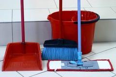Inventaire pour le nettoyage photo stock
