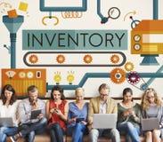 Inventar-Herstellungs-Anlagegut-Waren-Konzept auf Lager lizenzfreie stockfotografie