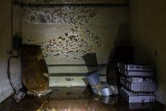Inventario abbandonato del bunker Immagine Stock