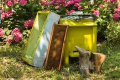 Inventario de la apicultura Foto de archivo libre de regalías