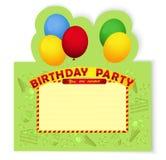 Inventationkaart van de verjaardagspartij Stock Foto's