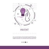 Invente a bandeira criativa da Web do negócio do processo da inspiração nova da ideia com espaço da cópia ilustração do vetor